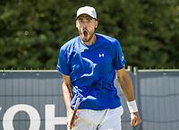 Den Bosch, Netherlands, 13 June, 2017, Tennis, Ricoh Open,  David Pel (NED) shows his emotion<br /> Photo: Henk Koster/tennisimages.com