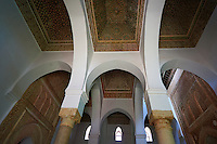 The arabesque architecture  in the Saadian Tombs the 16th century mausoleum of the Saadian rulers, Marrakech, Morroco