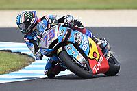 October 27, 2018: Alex Marquez (SPA) on the No.73 KALEX from Eg 0,0 Marc Vds during the Moto2 practice session three at the 2018 MotoGP of Australia at Phillip Island Grand Prix Circuit, Victoria, Australia. Photo Sydney Low