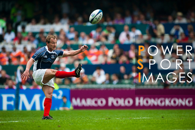 Russia play Fiji on Day 2 of the 2011 Cathay Pacific / Credit Suisse Hong Kong Rugby Sevens, Hong Kong Stadium. Photo by The Power of Sport Images