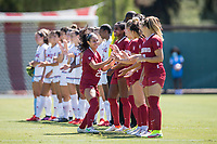 STANFORD, CA - SEPTEMBER 12: Samantha Williams before a game between Loyola Marymount University and Stanford University at Cagan Stadium on September 12, 2021 in Stanford, California.