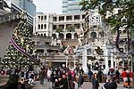 People's Republic of China, Hong Kong: 1881 Heritage shopping centre at Christmas, Kowloon peninsula | Volksrepublik China, Hongkong: 1881 Heritage Shopping Centre auf der Kowloon Halbinsel mit Weihnachtsdekoration
