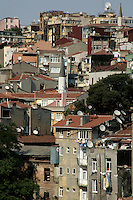 Urban housing, Beyoglu, Istanbul, Turkey