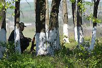Ukrainian Army at one of the check points surrounding rebelling city of Slavyansk. Ukraine. Donetsk  region