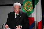 Italy, on January 25, 2020. Italy President, Sergio Mattarella in Trentino for Chiara Lubich. Photographer Pierre TEYSSOT