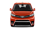 Car photography straight front view of a 2018 Toyota Proace-Verso Viaggio 5 Door Minivan Front View
