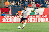 FOXBOROUGH, MA - AUGUST 18: Julian Gressel #31 of D.C. United passes the ball during a game between D.C. United and New England Revolution at Gillette Stadium on August 18, 2021 in Foxborough, Massachusetts.
