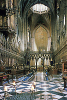 Ely: Ely Cathedral--Choir from High Altar. Reference only.