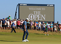 18th July 2021; Royal St Georges Golf Club, Sandwich, Kent, England; The Open Championship Golf, Day Four; Collin Morikawa (USA) on the 16th green
