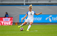 Sandefjord, Norway - June 11, 2017: Abby Dahlkemper during their game vs Norway in an international friendly at Komplett Arena.