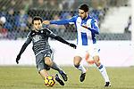CD Leganes' Pablo Insua (r) and Celta de Vigo's Giuseppe Rossi during La Liga match. January 28,2017. (ALTERPHOTOS/Acero)