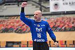 Ludwigshafens Skof Gorazd (Nr.16) jubelt beim Spiel in der Handball Bundesliga, Die Eulen Ludwigshafen - HSC 2000 Coburg.<br /> <br /> Foto © PIX-Sportfotos *** Foto ist honorarpflichtig! *** Auf Anfrage in hoeherer Qualitaet/Aufloesung. Belegexemplar erbeten. Veroeffentlichung ausschliesslich fuer journalistisch-publizistische Zwecke. For editorial use only.