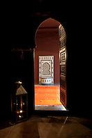 Keyhole doorway at the Zein Oriental Spa, Marseille 17 June 2011