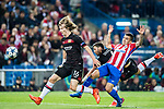 Tin Jedvaj (l) of Bayer 04 Leverkusen battles for the ball with Angel Correa of Atletico de Madrid during their 2016-17 UEFA Champions League Round of 16 second leg match between Atletico de Madrid and Bayer 04 Leverkusen at the Estadio Vicente Calderon on 15 March 2017 in Madrid, Spain. Photo by Diego Gonzalez Souto / Power Sport Images