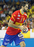Spain's Raul Entrerrios during 2018 Men's European Championship Qualification 2 match. November 2,2016. (ALTERPHOTOS/Acero)