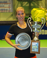 Rotterdam, Netherlands, December 20, 2015,  Topsport Centrum, Lotto NK Tennis, Final womans single  Richel Hogenkamp winner <br /> Photo: Tennisimages/Henk Koster