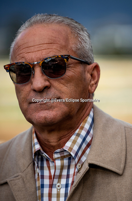 MAR 07: Kosta Hronis after winning the Santa Anita Handicap at Santa Anita Park in Arcadia, California on March 7, 2020. Evers/Eclipse Sportswire/CSM
