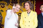 Mayor Madrid Region, Cristina Cifuentes and Queen Sofia during the Red Cross Fundraising day event (Dia de la Banderita) in Madrid, Spain. October 02, 2015.<br /> (ALTERPHOTOS/BorjaB.Hojas)