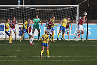 Emily van Egmond of West Ham clears a corner during West Ham United Women vs Brighton & Hove Albion Women, Barclays FA Women's Super League Football at the Chigwell Construction Stadium on 15th November 2020