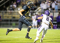 Tyrus Riley (81) of  Bentonville gets onside kick against Fayetteville at Tigers Stadium, Bentonville, Arkansas on Friday, October 16, 2020 / Special to NWA Democrat-Gazette/ David Beach