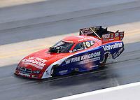 Sept. 15, 2012; Concord, NC, USA: NHRA funny car driver Johnny Gray during qualifying for the O'Reilly Auto Parts Nationals at zMax Dragway. Mandatory Credit: Mark J. Rebilas-