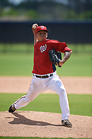 GCL Nationals pitcher Pedro Gonzalez (26) during a Gulf Coast League game against the GCL Astros on August 9, 2019 at FITTEAM Ballpark of the Palm Beaches training complex in Palm Beach, Florida.  GCL Nationals defeated the GCL Astros 8-2.  (Mike Janes/Four Seam Images)