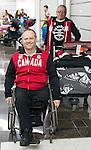Dennis Thiessen, Sochi 2014.<br /> Team Canada arrives at the airport in Sochi for the Sochi 2014 Paralympic Winter // Équipe Canada arrive à l'aéroport de Sotchi pour Sochi 2014 Jeux paralympiques d'hiver. 03/03/2014.