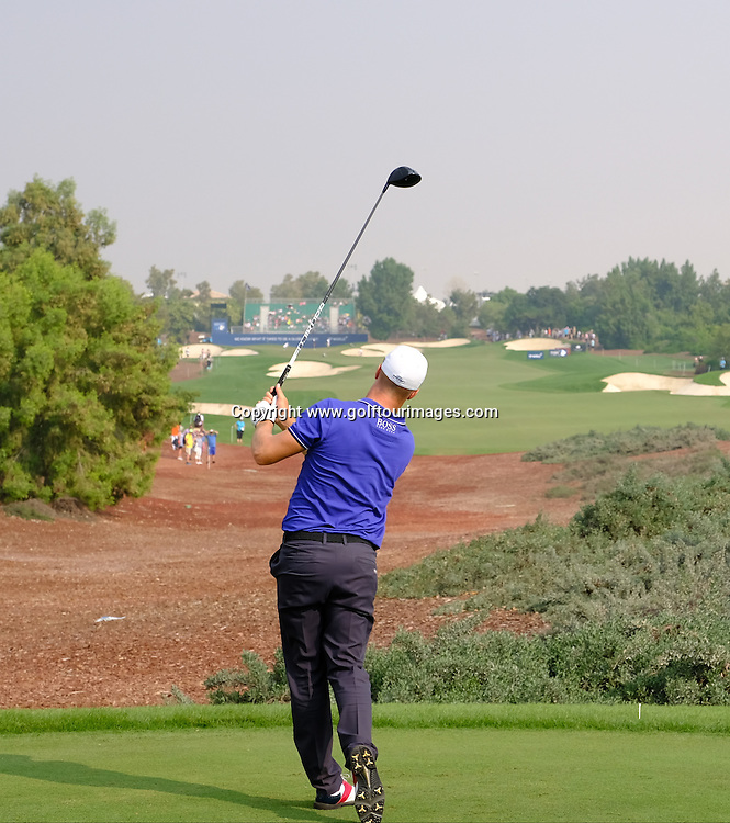 Alex NOREN (SWE) during round three of the 2016 DP World Tour Championships played over the Earth Course at Jumeirah Golf Estates, Dubai, UAE: Picture Stuart Adams, www.golftourimages.com: 11/19/16