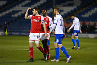 GOAL - Fleetwood Town's Bobby Grant (11) celebrates scoring his sides second goal with team-mate  during the The Checkatrade Trophy match between Bury and Fleetwood Town at Gigg Lane, Bury, England on 9 January 2018. Photo by Juel Miah/PRiME Media Images.