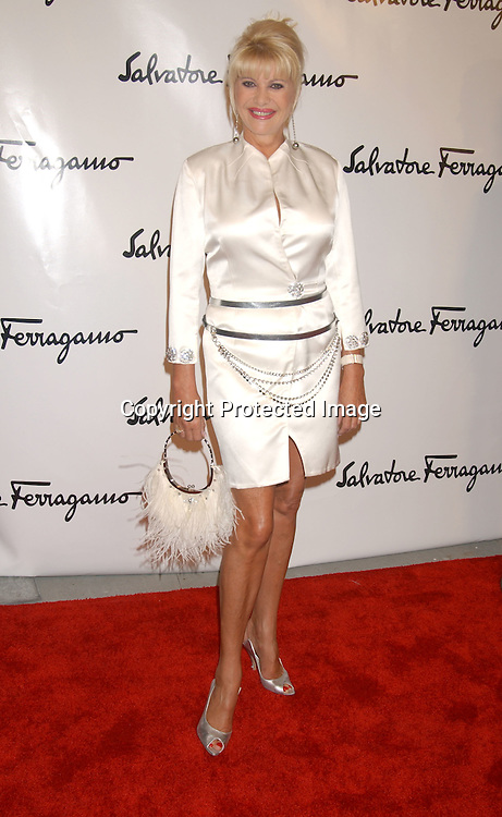 Ivana Trump                                ..at the Salvatore Ferragamo NYC Flagship Store opening on ..September 12, 2003 . The Event benefitted Free Arts NYC.  Photo by Robin Platzer, Twin Images.