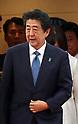 Japanese Prime Minister Shinzo Abe returns from G7 summit meeting