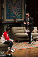 """Disgraced"" by Ayad Akhtar directed by Seth Gordon presented by The Repertory Theatre of St. Louis at The Loretto-Hilton Center for the Performing Arts of Webster University in St. Louis, Missouri on Feb 9, 2016."