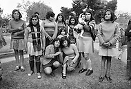 Colombia - Prostitutes  - The girl kneeling (center right) is only 12 years old - Child labor as seen around the world between 1979 and 1980 – Photographer Jean Pierre Laffont, touched by the suffering of child workers, chronicled their plight in 12 countries over the course of one year.  Laffont was awarded The World Press Award and Madeline Ross Award among many others for his work.