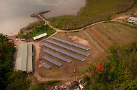 Photovoltaic Solar Array (Aerial), Turtle Island, Yasawa Islands, Fiji