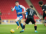 St Johnstone v Partick Thistle…08.08.17… McDiarmid Park.. Betfred Cup<br />Michael O'Halloran goes by Steven Lawless<br />Picture by Graeme Hart.<br />Copyright Perthshire Picture Agency<br />Tel: 01738 623350  Mobile: 07990 594431
