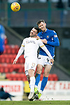 St Johnstone v Livingston…..07.03.20   McDiarmid Park  SPFL<br />Jamie McCart and Scott Robinson<br />Picture by Graeme Hart.<br />Copyright Perthshire Picture Agency<br />Tel: 01738 623350  Mobile: 07990 594431