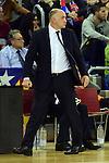Turkish Airlines Euroleague 2015-2016.<br /> Top 16 - Round 11.<br /> FC Barcelona Lassa vs R. Madrid: 72-65.<br /> Pablo Laso.