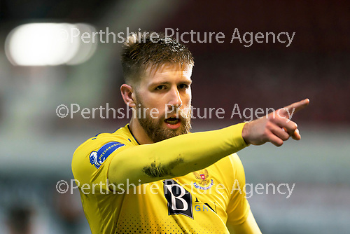 Dunfermline v St Johnstone…15.12.20   East End Park      BetFred Cup<br />Shaun Rooney celebrates his goal<br />Picture by Graeme Hart.<br />Copyright Perthshire Picture Agency<br />Tel: 01738 623350  Mobile: 07990 594431