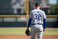Surprise Saguaros starting pitcher Scott Blewett (32), of the Kansas City Royals organization, during an Arizona Fall League game against the Scottsdale Scorpions at Scottsdale Stadium on October 26, 2018 in Scottsdale, Arizona. Surprise defeated Scottsdale 3-1. (Zachary Lucy/Four Seam Images)
