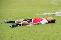Orlando, FL - Friday Oct. 14, 2016:   A player reacts to a missed goal during a US Soccer Coaching Clinic in Orlando, Florida.