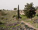 Ruins left by several civilizations are mixed together at Umm Qais, in northern Jordan.  Recorded in history as the town of Gadara, home of the Gadarenes as described in the Bible.  The site is unusual in that it contains ruins of an Ottoman town, over a Roman town, with the original Gadarene settlement below.  © Rick Collier