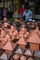 Yogyakarta, Java, Indonesia.  Pottery Shop.