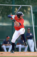 Atlanta Braves first baseman Joey Meneses (22) during an Instructional League game against the Houston Astros on September 22, 2014 at the ESPN Wide World of Sports Complex in Kissimmee, Florida.  (Mike Janes/Four Seam Images)