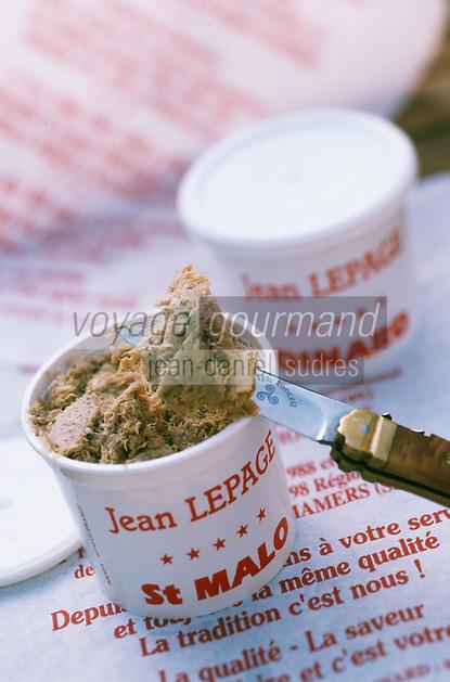 Europe/France/Bretagne/35/Ille-et-Vilaine/Saint-Malo: les rillettes de Jean Lepage Charcutier 39 rue de Beaulieu
