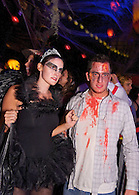 Black Swan costume at Halloween party.