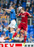 St Johnstone v Aberdeen...23.08.14  SPFL<br /> Steven MacLean and Mark Reynolds<br /> Picture by Graeme Hart.<br /> Copyright Perthshire Picture Agency<br /> Tel: 01738 623350  Mobile: 07990 594431