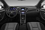 Stock photo of straight dashboard view of 2015 Hyundai I30 Go 5 Door Wagon Dashboard