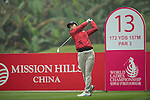 Hye Youn Kim of Korea tees off at the 13th hole during Round 3 of the World Ladies Championship 2016 on 12 March 2016 at Mission Hills Olazabal Golf Course in Dongguan, China. Photo by Victor Fraile / Power Sport Images
