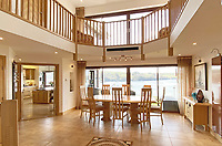 BNPS.co.uk (01202) 558833. <br /> Pic: LillicrapChilcott/BNPS<br /> <br /> Pictured: Dining hall. <br /> <br /> An impressive waterfront home with panoramic views over one of Britain's most popular estuaries is on the market for £2.75m.<br /> <br /> Tregytreath is the perfect property for boat lovers, with access to the foreshore and its own private jetty onto the water.<br /> <br /> The five-bedroom house is in Restronguet Point, one of the most exclusive waterside locations in Cornwall, and this property has one of the most outstanding positions among those prestigious homes.<br /> <br /> The house was designed and built, by the current owners 20 years ago, to make the most of the beautiful views.