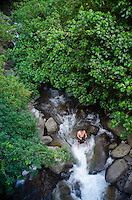 Cooling Off in Iao Stream, 'Iao Valley State Monument, Maui, Hawaii, US